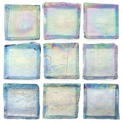 mineral tiles recycled glass tile ocean iridescent 1x1