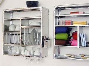 Wall-Mounted Drying Rack for the Dishes HomesFeed