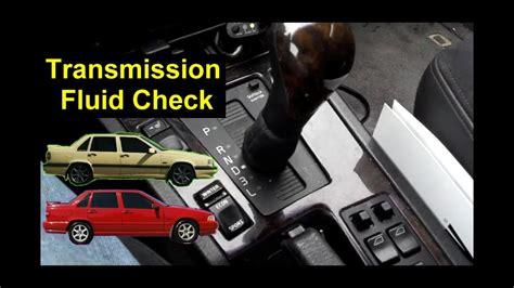 volvo    transmission fluid level check auto