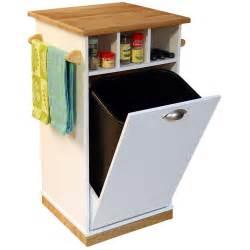 kitchen island trash bin venture horizon bedford kitchen island with trash bin at hayneedle