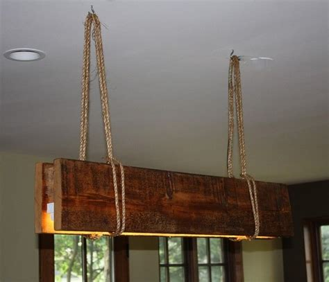made reclaimed wood rope fluorescent grow light by