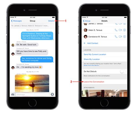 how to start a chat on iphone ios 8 how to leave a chat in messages tekrevue