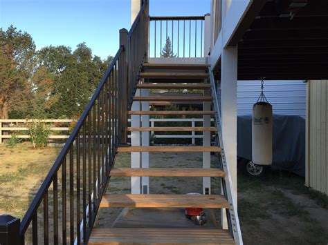 Awesome Deck Stairs HOUSE EXTERIOR AND INTERIOR : New Deck