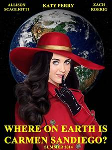 Where On Earth Is Carmen Sandiego Movie Poster By