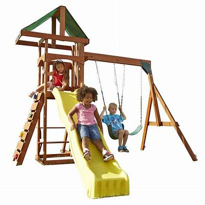 Swing Wooden Play Slide Sets Playsets Playset