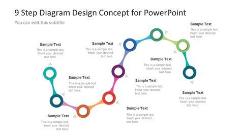 step powerpoint diagram  process flow slidemodel