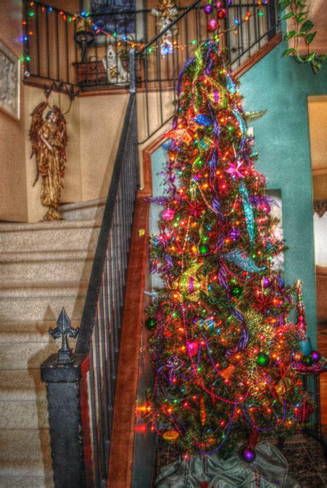 foyer multi color christmas tree christmas new years