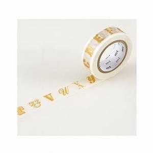 Masking Tape Doré : masking tape ex alphabet dor little marmaille ~ Teatrodelosmanantiales.com Idées de Décoration