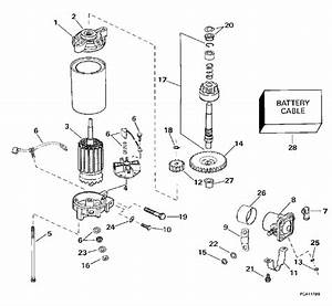 Evinrude Electric Starter  U0026 Solenoid Parts For 1998 115hp E115elecm Outboard Motor