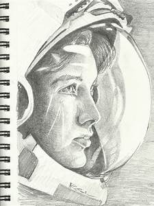 Pencil Drawings of Astronauts (page 2) - Pics about space