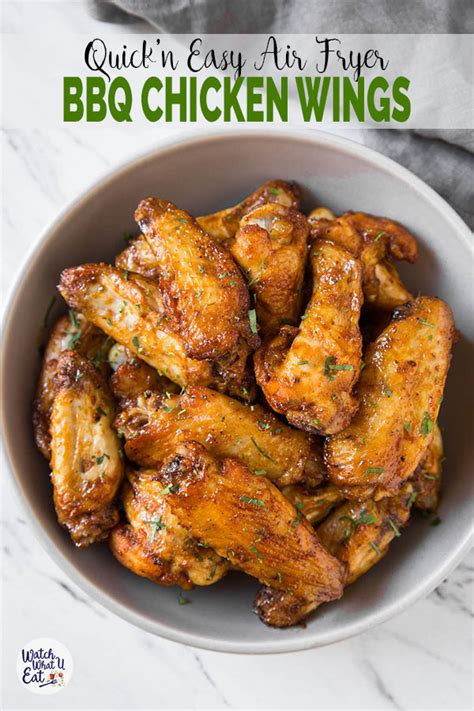 fryer wings chicken air bbq easy quick fresh eat recipe airfryer party cooked watchwhatueat sauce realization self experience print