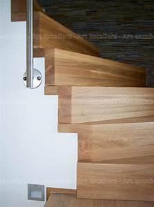 Marche D Escalier En Chene : habillage de marches sur escalier b ton art escaliers ~ Melissatoandfro.com Idées de Décoration