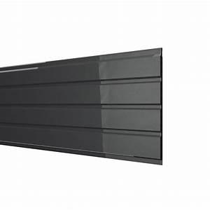 Sous face de toiture noir pvc L 3 m Leroy Merlin