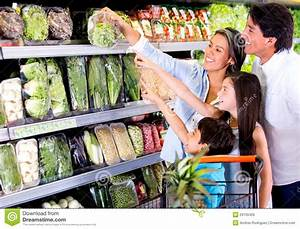 Family Shopping At The Supermarket Royalty Free Stock ...
