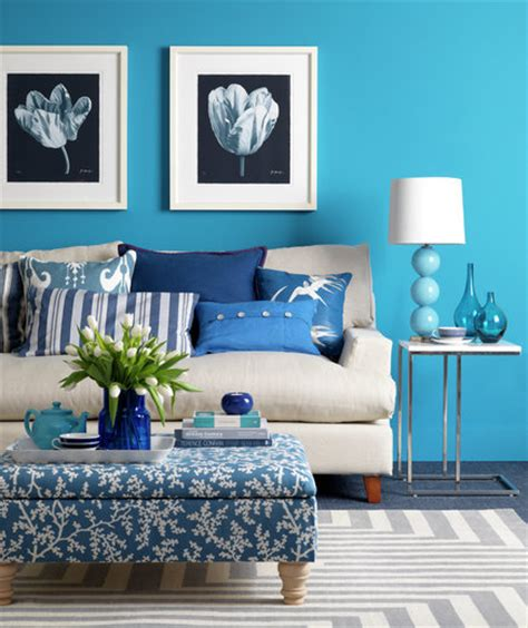 cool blue colorful decorating ideas   small room
