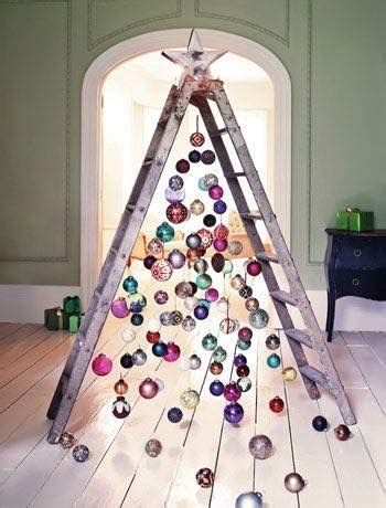ladder treethese    creative christmas trees