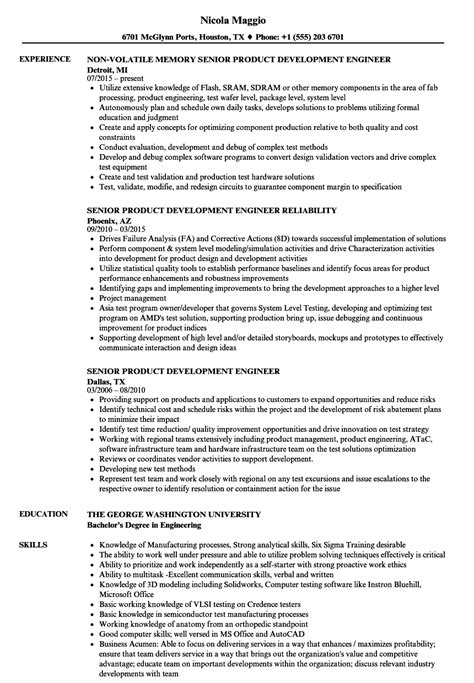 product design resumes senior product development engineer resume samples