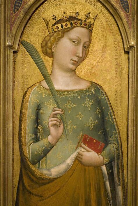 crowned virgin martyr st catherine  alexandria cir
