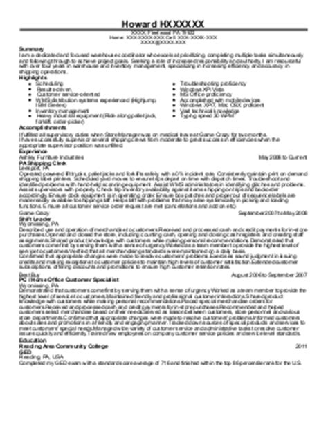 it specialist resume exle general services