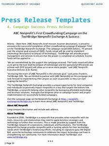 quick start guide for your nonprofit technology With press release brief template