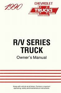 1990 Chevrolet R V Series Owners Manual User Guide