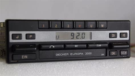 becker europa 2000 becker europa 2000 be1100 mercedes w124 w126 w140 r107