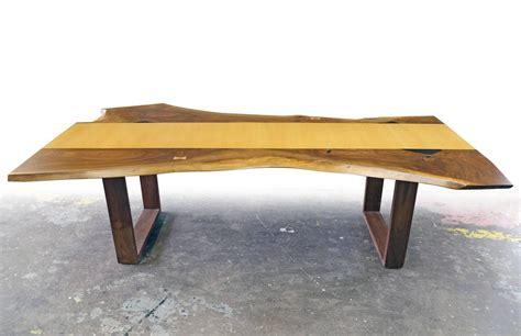 live edge black walnut dining table sentient live edge black walnut slab dining table with red