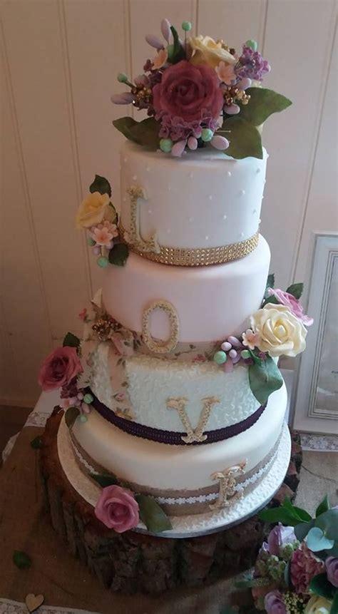 shabby chic wedding cake vintage shabby chic wedding cake cakecentral com
