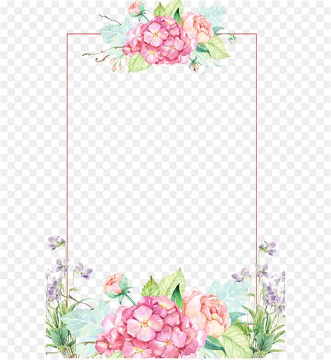 Floral Border Clip Flower Clip Beautiful Flower Borders Png