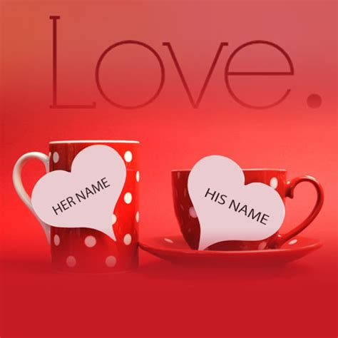 write   love heart cup images