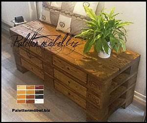 Kommode Aus Paletten : palettenkommode mit schubladen in braun sideboard aus palettenholz europaletten kaufen ~ Watch28wear.com Haus und Dekorationen