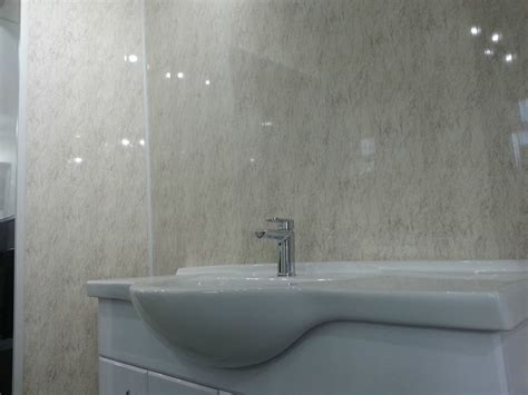 16 beige marble granite effect bathroom cladding gloss pvc