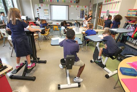 Exercise Chairs For Classroom Pottstown Students Exercise Bodies And Brains Through