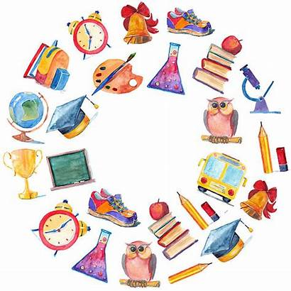 Education Watercolor Clipart Icons Illustration Classroom Teacher