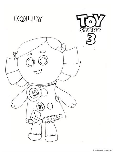 printable toy story  dolly coloring pages  kidsfree printable coloring pages  kids