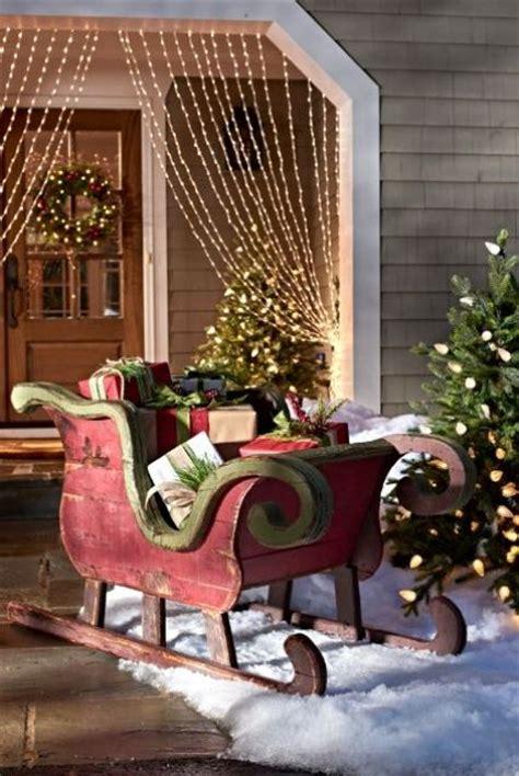 sleigh christmas decoration decor decorations outdoor wood fun traditional creative sled xmas crafts wooden noel traineau bois santa diy decorating