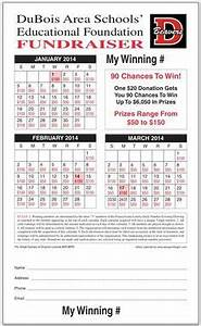 Calendar Raffle Fundraiser Template Calendar Raffle Ticket Template Raffle Ticket Templates