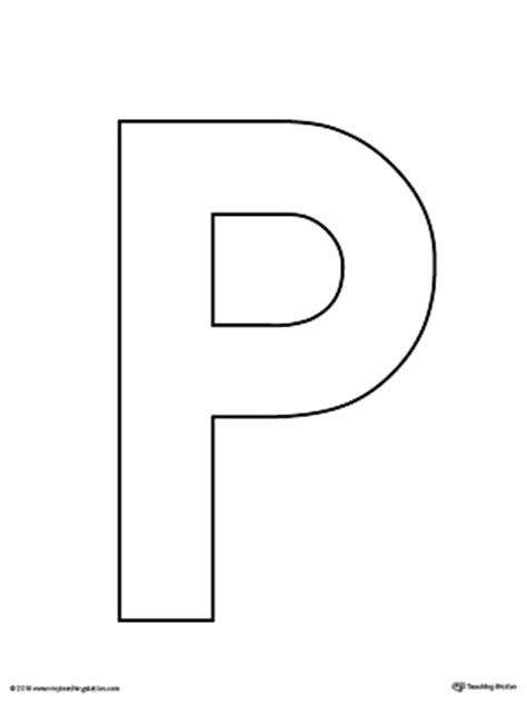 letter p    worksheet myteachingstationcom