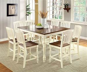 9 Piece Harrisburg Counter Height Dining Set In Vintage