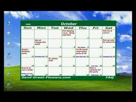 desktop calendar youtube