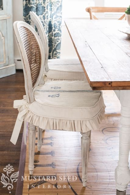dining chair slipcover tutorial  mustard seed