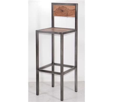 chaise de bar industriel tabouret de bar industriel en métal et bois 39 industry quot 6748