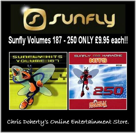 Sunfly Hits Series Cd+g Volumes 187  250  Chris Doherty