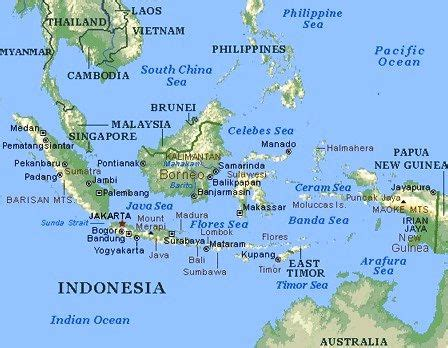 indonesia map countries regions   world