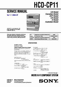 Sony Cmt-cp1 Service Manual