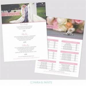 Sell Sheet & Product Pricing Template Packages Photography Marketing Template 8.5x11 Wedding ...