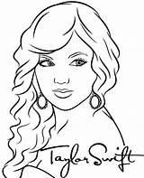 Swift Coloring Taylor Printable Singer Pop Colouring Template Stars Sketchite sketch template
