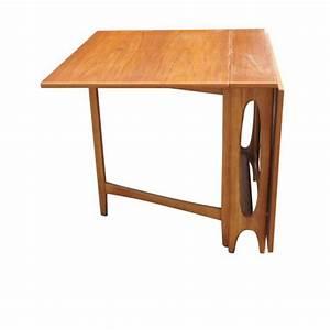 Dining Table: Drop Leaf Dining Table Teak