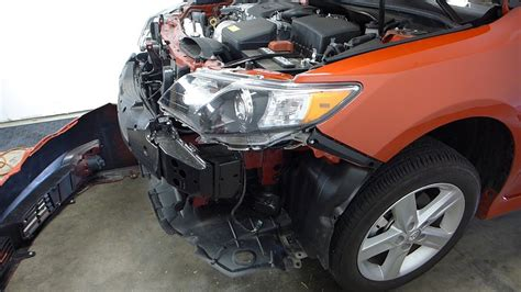 toyota camry front bumper cover grille removal