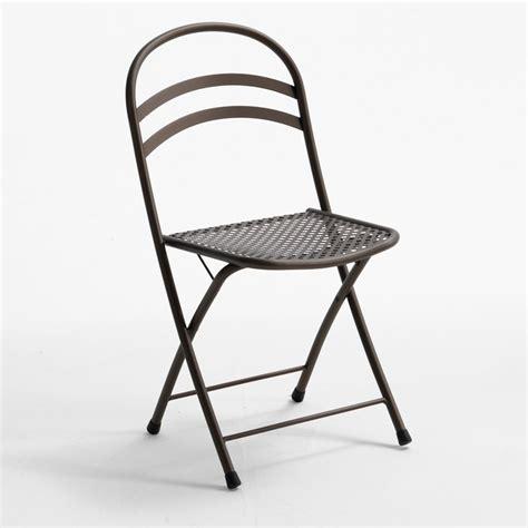 chaise pliante exterieur rig28 pour bars et restaurants chaise en métal pliante